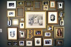 gold frames picture wall