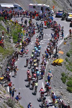 #TDF2016 103rd Tour de France 2016 / Stage 8 Illustration / Landscape / Peloton / Fans / Public / Col du Tourmalet 2115m / Pau BagneresdeLuchon / TDF /