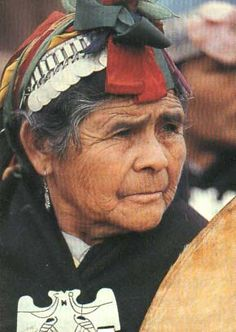 Portrait of a Mapuche woman - lovely rich but earthy tones
