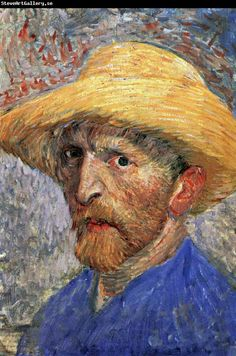 ♥ Self-Portrait in a Straw Hat ♥ Vincent van Gogh