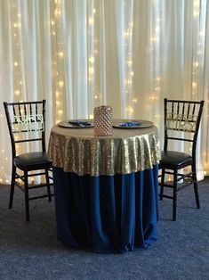 Light curtain and sweetheart table with gold glitter table topper/Over the Moon Events & Decor – beyond ordinary to extraordinary