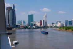 Good Morning Vietnam. The Silver Shadow has arrived in Ho Chi Minh City (Saigon), with it's Modern skyline.