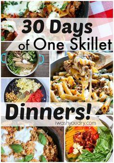 30 Days of One Skillet Dinner Recipes