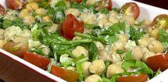Salada de Grão-de-bico com Rúcula