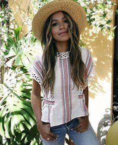 effortless in eyelet  @sincerelyjules wearing @tularosalabel Marla top (on preorder style # TULA-WS107)