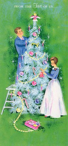 Christmas tree trimming.