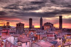 A typical sunset in Bologna