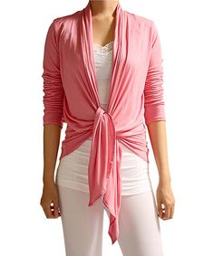 Look at this 42POPS Rosewood Multifunctional Open Cardigan on #zulily today!