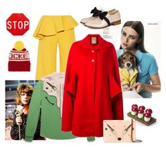 """""""The spirit of color blocking: courage"""" by juliabachmann ❤ liked on Polyvore featuring Rosie Assoulin, The Elder Statesman, Caprice, Pokemaoke, Coach and Pascal Millet"""