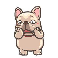 French Bulldog PIGU-Sticker VIII Cartoon Gifs, Cute Cartoon, Bulldog Gif, Gif Lindos, Dog Emoji, Foto Gif, Cute Love Gif, Cute Messages, Training Your Puppy