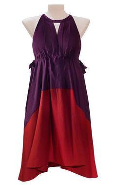 Moss - empire dress  Colour block cotton empire dress.    Our Price:  $459.00