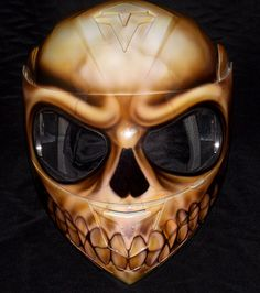 Custom Made Painted Airbrushed Flaming Skull by skull2210 on Etsy