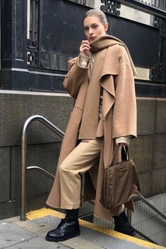 Nov 2019 - Wondering what the fashion set will be wearing in Here are 25 outfit ideas to wear ahead of the pack. Tights And Heels, White Tights, Sandro, Define Fashion, Chanel, Street Style, Long Jackets, Trendy Colors, Simple Outfits