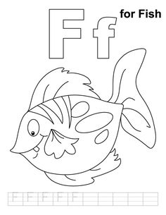 124 Best Letter F Images On Pinterest Infant Crafts Art For Kids - F-is-for-fish-coloring-page
