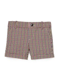 Check-Print Seersucker Shorts, Red/White/Blue, Size 0-36 Months, White Blue - Gucci