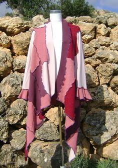 Patchwork Jacket Upcycled One Size Womens Jacket by NuLifeClothing, $140.00