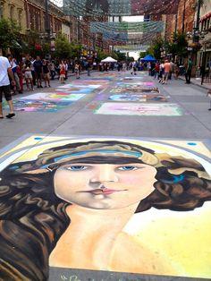 Denver Chalk Art Festival, Larimer Square. This was so much fun!
