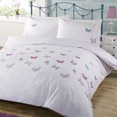 White Garden Butterfly Bedding