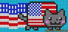 American Nyan Cat perler bead pattern