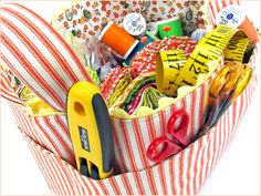Re-imagine & Renovate: Structured Fabric Task Baskets | Sew4Home - link to original instructions. Lots of ideas on the home site.