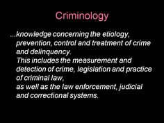 Criminology list of sciences courses
