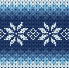 Art Print: Detailed Knitted Blue Jacquard Pattern with White Flowers by Anna zabella : Tapestry Crochet Patterns, Fair Isle Knitting Patterns, Fair Isle Pattern, Knitting Charts, Knitting Stitches, Knitting Designs, Knitting Projects, Fair Isle Chart, Free Knitting