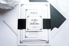Regal Border Wedding Invitation - SAMPLE SET