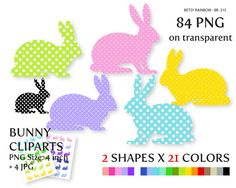 Bunny cliparts PNG and JPG, easter bunny clipart, rabbit, clipart Easter - BR 315