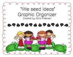 This is a Little Seed Ideas Graphic Organizer. My cooperating teacher uses this idea. She uses a seed idea notebook where children can put in seeds (writing ideas) into their watermelon (writing). She also tells them about small moments. The small moments are things that happen in their everyday life and these small moments can turn into seed ideas and the seeds can then help them write a story!