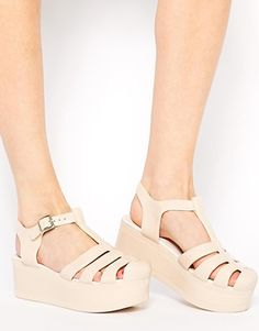 ASOS HAPPY Flatform Jelly Shoes. Just need them! #fashion #shoes #asos