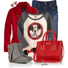 A fashion look from November 2014 featuring Old Navy t-shirts, American Eagle Outfitters coats and AG Adriano Goldschmied jeans. Browse and shop related looks. Disneyland Outfits, Disney Bound Outfits, Disneyland Trip, College Outfits, Mickey Mouse Outfit, Mickey Mouse T Shirt, Cute Disney, Disney Style, Disney Mickey