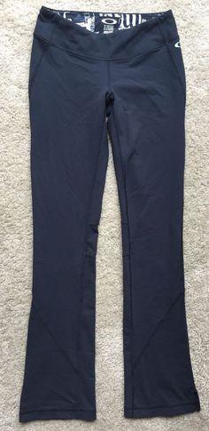OAKLEY Women's Black Compression Stretch Yoga Activewear Pants ~EUC~ Size XS #Oakley #PantsTightsLeggings