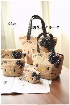 537bc78fd Hello kitty Limited Edition The unique design of the straw Rattan shoulder bag  Hello Kitty Handbags