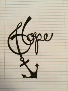 Possibly my next tattoo. We have this hope as an anchor for the soul, firm and…