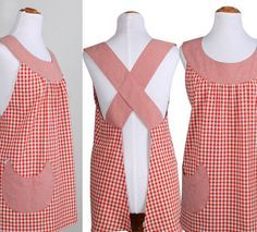 Delantales Vintage: SPICY JANE No tutorial or pattern, but, good idea. Sewing Aprons, Sewing Clothes, Diy Clothes, Aprons Vintage, Vintage Sewing, Vintage Apron Pattern, Sewing Hacks, Sewing Crafts, Sewing Projects