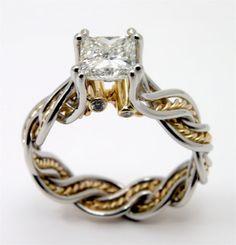 1 carat Princess Cut Canadian Diamond set into by WatertonJewelry, $14100.00
