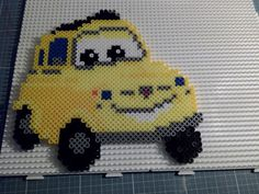 Nice Cars dream 2017: Hama beads Perler Disney Cars Luigi Peerler Bead Patterns