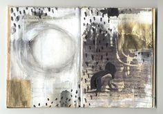 more about my most recent altered books here: ines-seidel.de/2013/11/aus-schwierigen-geschichten/?lang=en  Buch mit Angst und anderen Mustern. mehr über die letzten veränderten Bücher hier: ines-seidel.de/2013/11/aus-schwierigen-geschichten/
