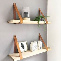 Still very happy with the nice leather plankdragers of www. Compact Living, Old Houses, Floating Shelves, Living Spaces, Sweet Home, Home And Garden, House Design, Interior Design, Room