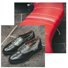 Hemos creado la mezcla perfecta entre zapatos clásicos y festivos ;) #Oxford #Glitter #Gioseppo #PartyTime #Xmas #Navidad