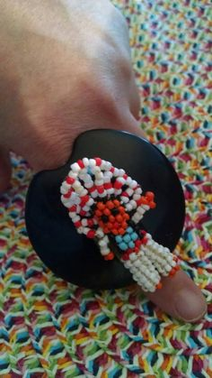 Hey, I found this really awesome Etsy listing at https://www.etsy.com/listing/238946394/beaded-native-american-doll-ring-big
