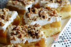 Jablečné řezy s pěnou a ořechy | NejRecept.cz Cake Pops, Tiramisu, Mashed Potatoes, Waffles, Cereal, French Toast, Food And Drink, Paleo, Baking