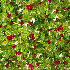 Holly Jolly Christmas - Holiday Holly Yardage - Mary Lake Thompson - Robert Kaufman