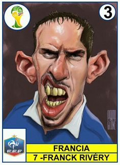 Some great caricatures of soccer players.