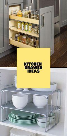 DIY Kitchen Drawer Ideas #kitchendesign #kitcendecor Kitchen Cart, Diy Kitchen, Kitchen Ideas, Kitchen Design, Drawer Inspiration, Drawer Ideas, Drawer Design, Kitchen Drawers, Cool Kitchens