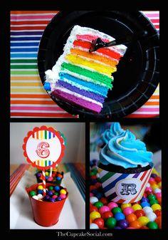 Rainbow Themed Birthday Party for my little girl. « Cupcake Social Blog