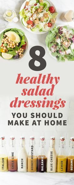 8 Healthy Salad Dressings You Should Make at Home