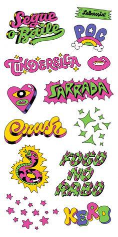 Le Petit Pirate - Tatuagens temporárias para crianças. Printable Stickers, Cute Stickers, Graphic Design Illustration, Illustration Art, Graphic Design Print, Typography Design, Logo Design, 90s Design, Pop Art