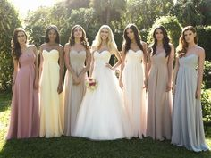 Mismatched Bridesmaid Dresses | kiah weddings