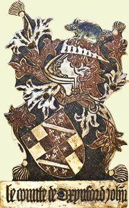 Garter Stall-plate of John de Vere, thirteenth Earl of Oxford.